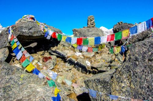 Gebetsfahnen Himalaya, Nepal