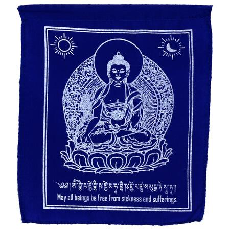 Gebetsfahnen Medizinbuddha Blau Verwendung Krankheit