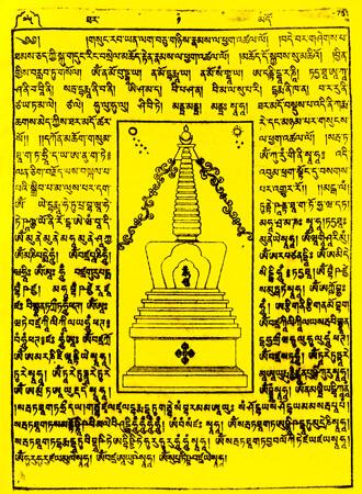 Gebetsfahnen Thamdo in Gelb - Verwendung Todesfall
