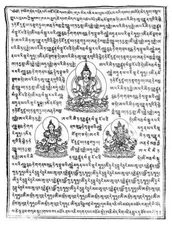 Gebetsfahnen Tsela Namsun in Weiß - Verwendung Hilfe