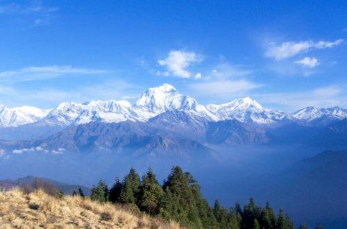 Himalaya Blick auf Annapurna Range von Poon Hill