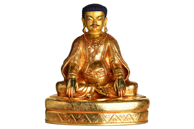 Kagyü Gründer Marpa Statue Vollfeuervergoldet