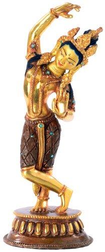 Mayadevi (Mutter Buddhas) Statue Feuervergoldet