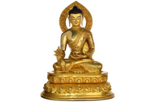 Medizinbuddha Replika Statue Vollfeuervergoldet
