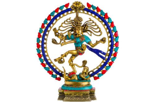 Nataraja Dancing Shiva Statue Mossaik