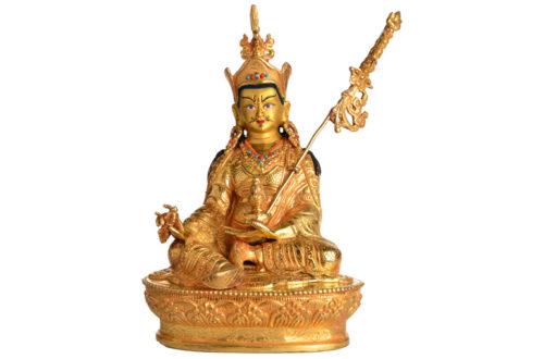 Padmasambhava Statue Vollfeuervergoldet