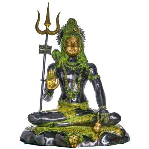 Mahayogin Statue aus Messing