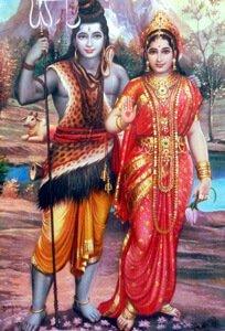 Shiva mit Gemahlin Parvati