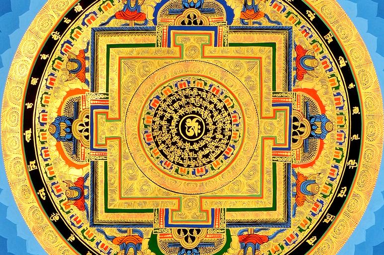 Thangka Mandala Ausschnitt
