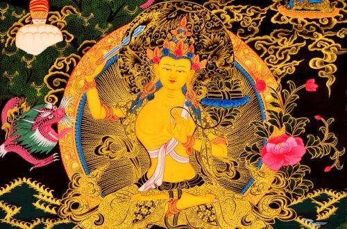Thangka Manjushri Bodhisattva