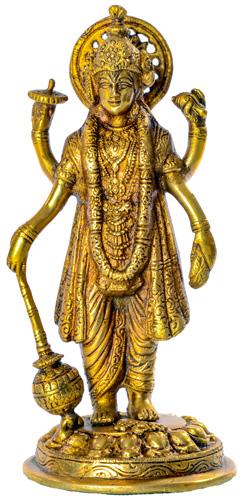 Vishnu Statue stehend aus Messing