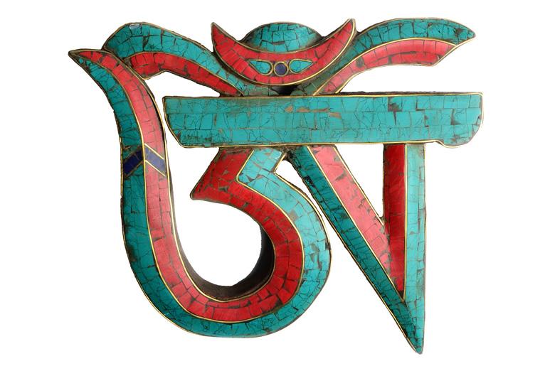 Yoga Om Symbol Steinmosaik